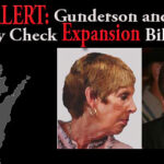 Sarah Brady and State Rep. Scott Gunderson (R-Waterford) both seem to be working toward the same goal: to expand Brady background check gun control.