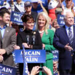 Notorius Anti-Gunners Sarah Palin and John McCain Woop it Up for Crowds of Cheering Neo-Cons.