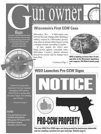 Wisconsin Gun Owners Concealed Carry Newsletter
