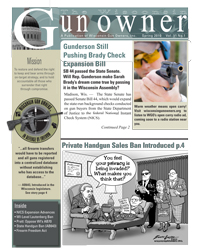 Wisconsin Gun Owners (WGO) Spring 2010 Newsletter