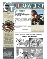 The Wisconsin Gun Owner, Summer 2010, WGO's Official Newsletter