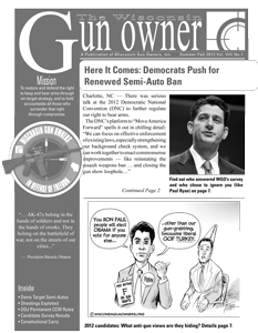 WGO Newsletter Summer-Fall 2012
