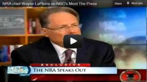 NRA's Wayne Lapierre on Meet the Press following Newtown Shooting.