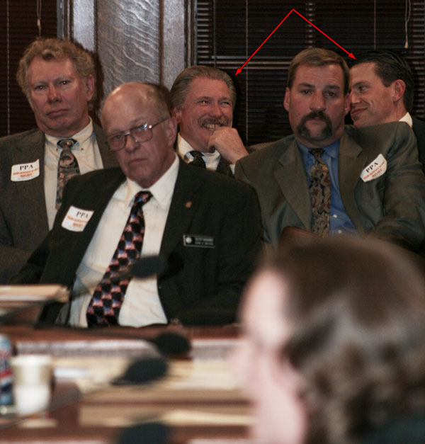 Former Republican State Rep. Scott Gunderson (left) and former NRA lobbyist Darren LaSorte (right)